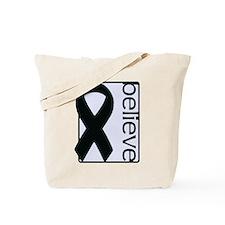 Lavender (Believe) Ribbon Tote Bag