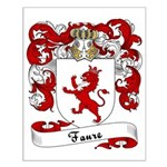 Faure Family Crest Small Poster