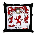 Faure Family Crest Throw Pillow