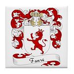 Faure Family Crest Tile Coaster