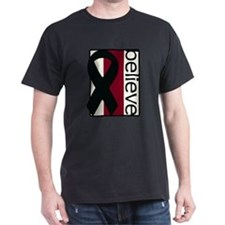 Ivory/Burgundy/Ivory (Believe) Ribbon T-Shirt