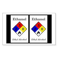 Ethanol Label Sticker (double)