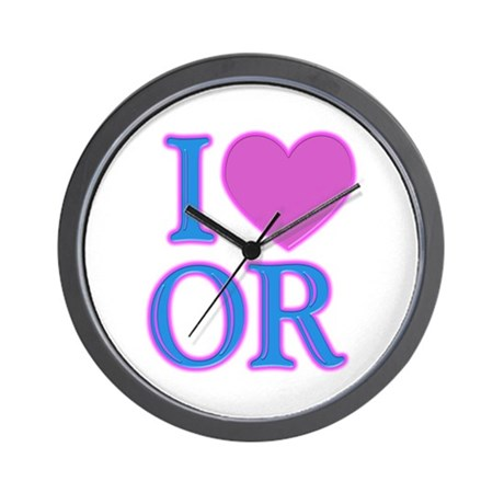 I Love OR Wall Clock