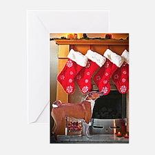 Basenji Christmas Stockings Greeting Cards