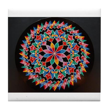 Costa Rica Oxcart Wheel Tile Coaster