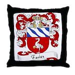 Favier Family Crest Throw Pillow