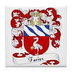 Favier Family Crest Tile Coaster