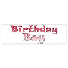 Birthday Boy (red) Bumper Bumper Sticker