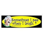 Sometimes I Pee (Bumper Sticker)