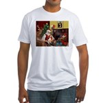 Santa's Beagle Fitted T-Shirt