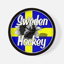 Sweden Hockey Wall Clock