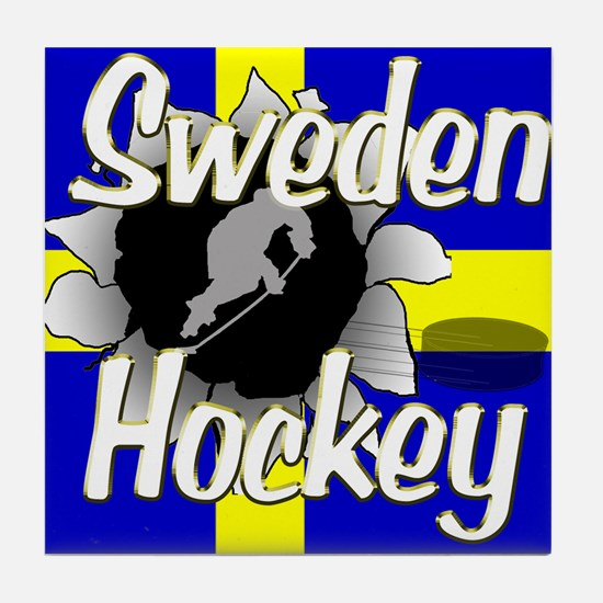Sweden Hockey Tile Coaster
