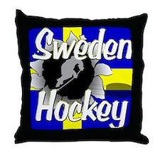 Sweden Hockey Throw Pillow