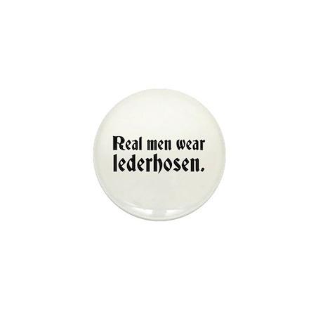Real Men Wear Lederhosen Mini Button (10 pack)