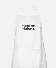 Real Men Wear Lederhosen BBQ Apron