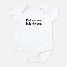 Real Men Wear Lederhosen Infant Bodysuit