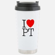 I Heart PT - Stainless Steel Travel Mug