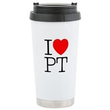 I Heart PT - Travel Coffee Mug