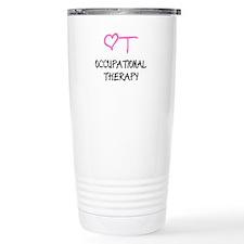 OT Pink Heart Thermos Mug