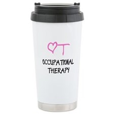 OT Pink Heart Travel Mug
