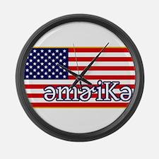 Phonetics America Large Wall Clock
