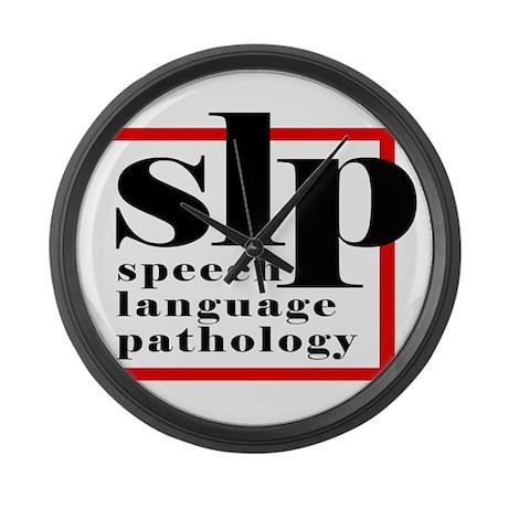 SLP - Speech Language Patholo Large Wall Clock