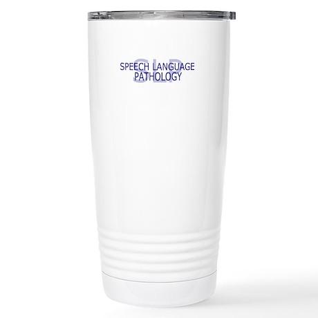 SLP Speech Language - Stainless Steel Travel Mug