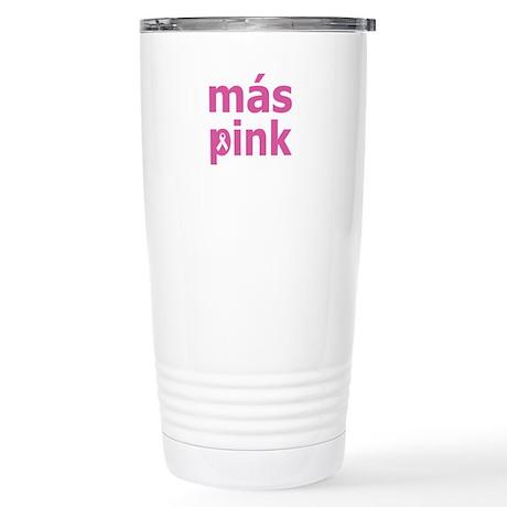 Más Pink Stainless Steel Travel Mug
