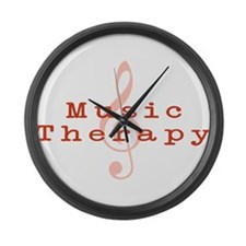 Music Therapy Large Wall Clock