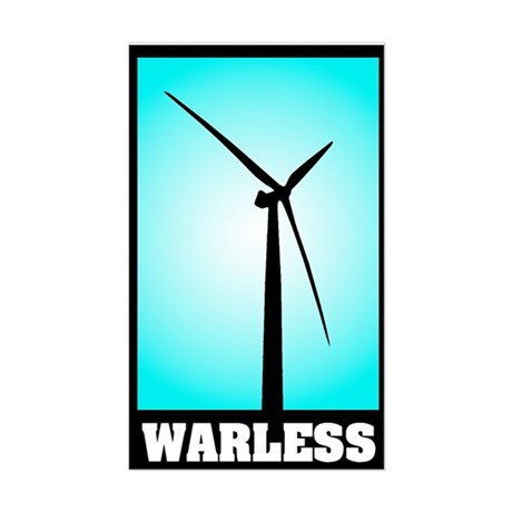 Warless Energy - Blue Rectangle Sticker