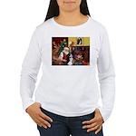 Santa's Home & Bernese Women's Long Sleeve T-Shirt