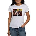 Santa's Home & Bernese Women's T-Shirt