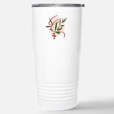 Holiday Mistletoe Stainless Steel Travel Mug