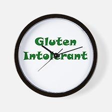 Gluten Intolerant Wall Clock
