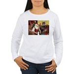 Santa's Border Collie Women's Long Sleeve T-Shirt