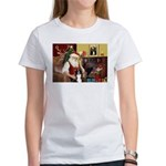 Santa's Border Collie Women's T-Shirt