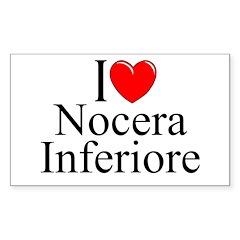 """I Love (Heart) Nocera Inferiore"" Sticker (Rectang"