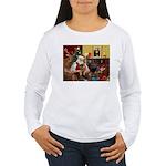 Santa's Border Terrier Women's Long Sleeve T-Shirt