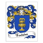 Fontaine Family Crest Small Poster