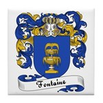 Fontaine Family Crest Tile Coaster