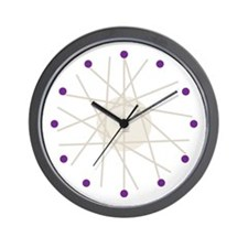 Haywire Small Wall Clock (purple)