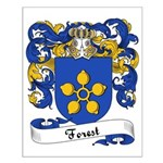 Forest Family Crest Small Poster