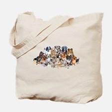 Dog Pile Tote Bag