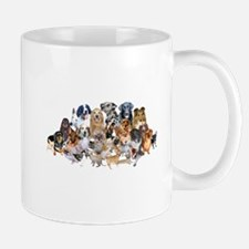Dog Pile Small Mugs