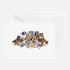 Dog Pile Greeting Card