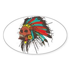 War Chief Oval Decal