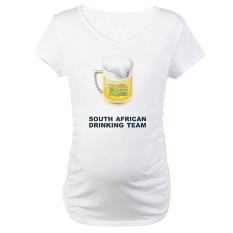 South African Drinking Team Maternity T-Shirt
