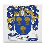 Forestier Family Crest Tile Coaster
