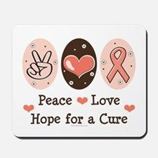 Peace Love Hope For A Cure Mousepad