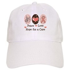 Peace Love Hope For A Cure Baseball Cap